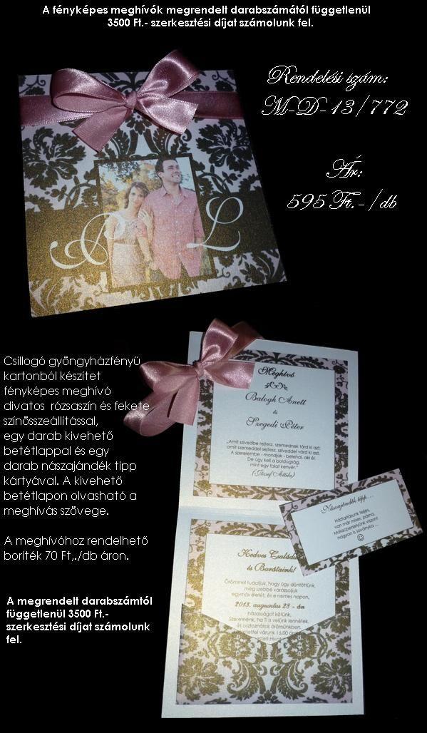 Esküvői meghívók és köszönetajándékok - dreamflowers - sokoldal.hu