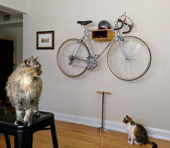 Le plateau de vélo de ville-D / / Bike Rack / / bois de récupération