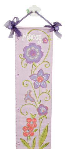 Lavender Flower Canvas Growth Chart | Jack and Jill Boutique