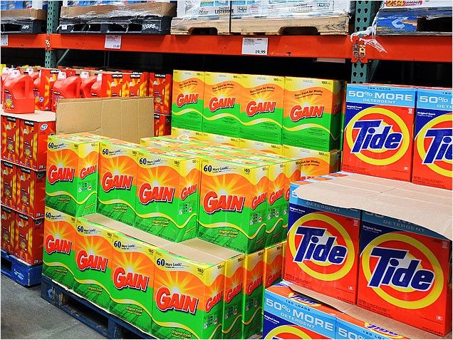 What to Buy and Skip at Warehouse Stores ~ Buy This: Laundry Detergent ~ Stocking up on laundry detergent at a warehouse store is always a good idea, since it's cheaper and doesn't go b...