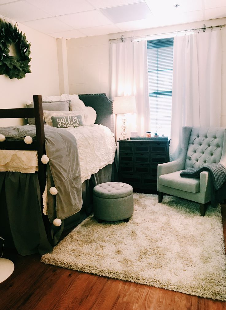 Baylor North Russell Hall Dorm Room - Talk about dorm room goals! Simple, clean, and every girls dream!