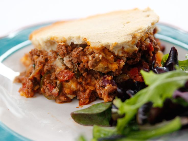 Tamale Pie recipe from Ree Drummond via Food Network**{  I will use cornbread topping instead of masa crust}