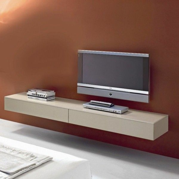 oss Floating Wall Mounted TV Unit High Gloss