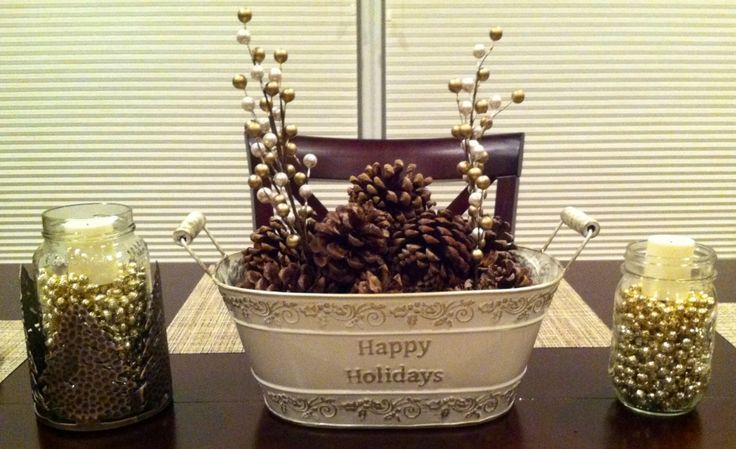Scented pine cones make any room smell amazing. New holiday centerpiece