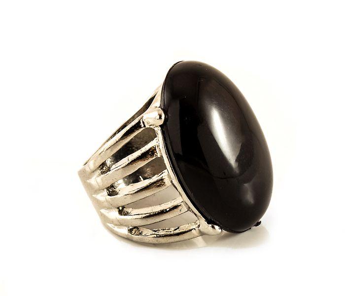Bizsu Gyűrűk Chyntia ezüst ezüst fekete
