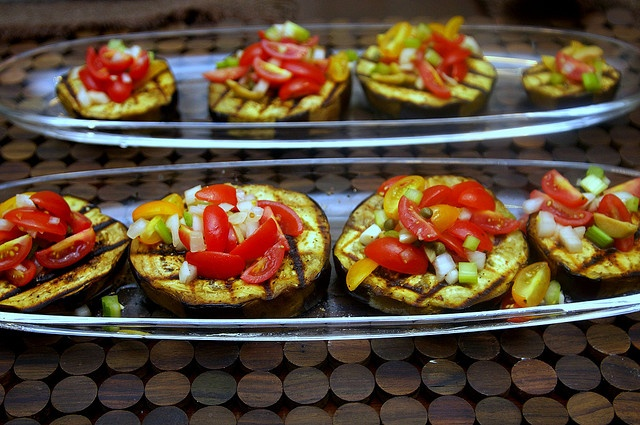grilled eggplant with caponata salsa by smitten, via Flickr: Eggplants, Caponata Salsa, Yummy Food, Side, Recipes, Smitten, Grilled Eggplant