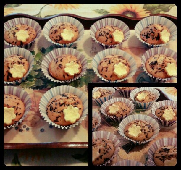 Muffin arancio e cioccolato