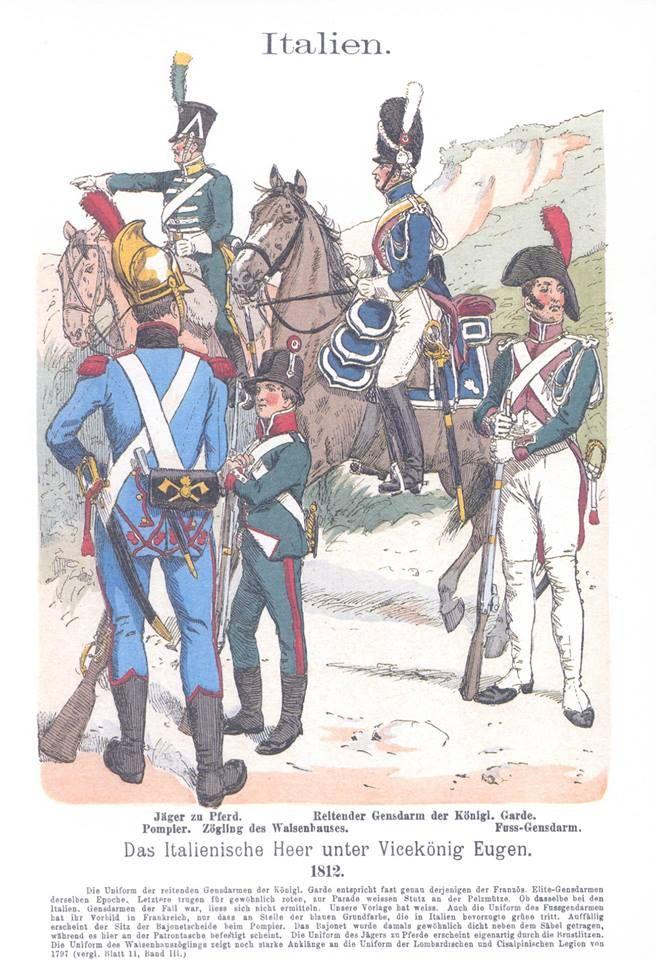 Band III #45.- Italien. Das italienische Heer unter Vice-König Eugen. 1812.