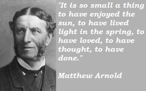 Essay on mathew arnold