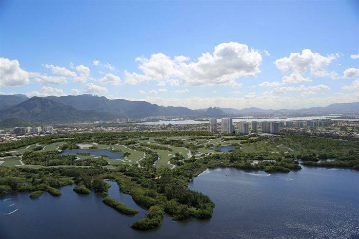Fotomontagem Aérea do Futuro Campo de Golfe Olímpico e do Riserva Golf