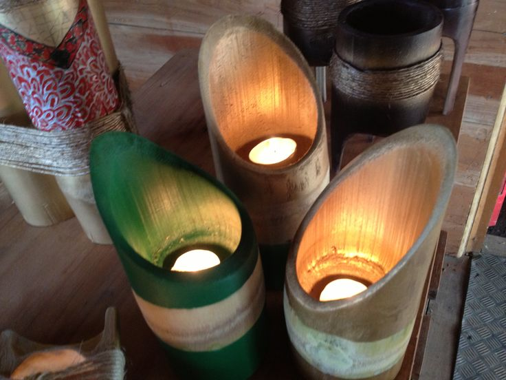 Bamboo Candle Holders.