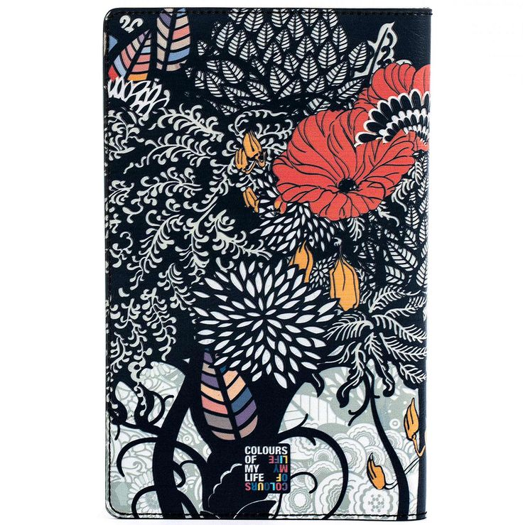 COLOURS OF MY LIFE | Notebook Cover.  Designer Limited Edition; #WomenLeatherNotebookCover #LuxuryNotebookCover #DesignerNotebookCoversUK