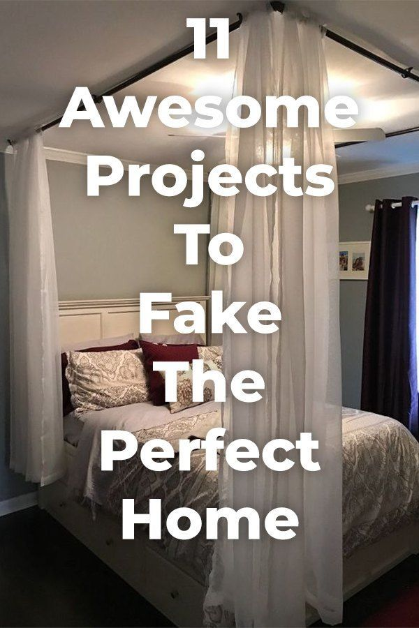 11 Awesome Projects To Fake Your Way To The Perfect Home Diy Home Decor Projects Home Improvement Projects Home Diy