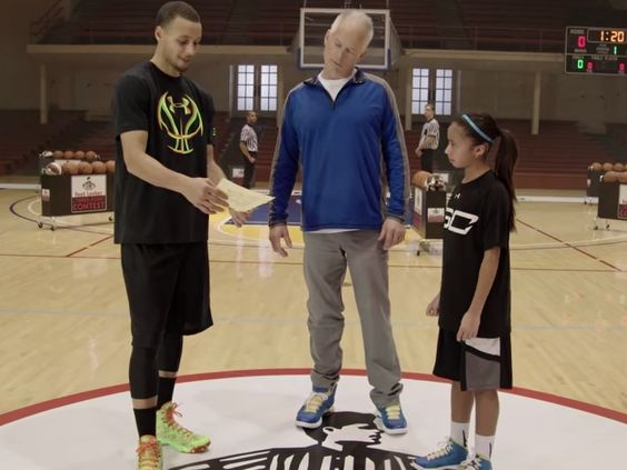 Stephen Curry Gets Owned In Three-Point Contest By 10-Year-Old Girl [VIDEO]