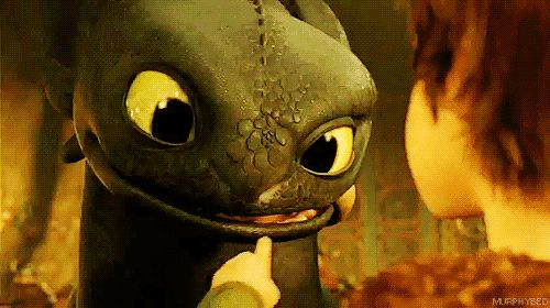 "Animated gifs : Dragons - ""How to train your dragon"" movie"