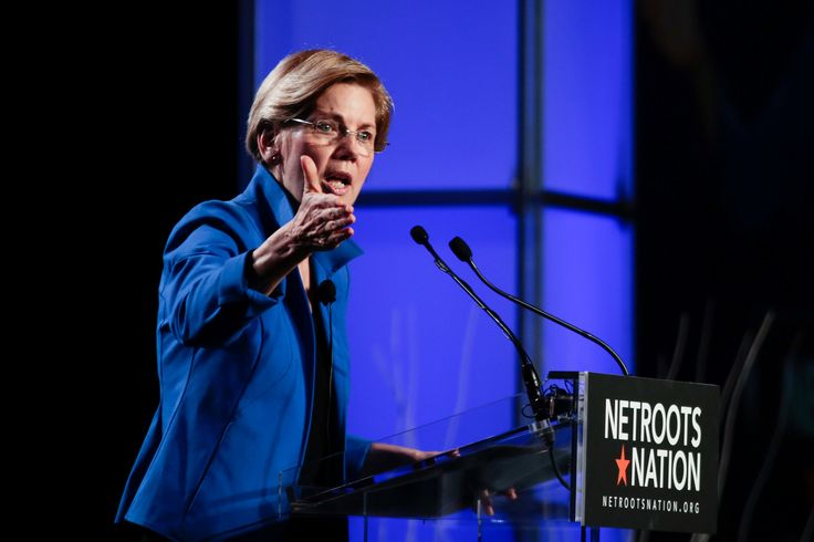 Elizabeth Warren Takes Aim at Moderates and Generates Chants of Warren 2020
