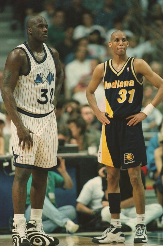 Reggie Miller 1995-1996 Season: For the second consecutive year, Miller led the Pacers to a 52 win regular season, averaging 21.1 ppg on .473 field goal shooting.