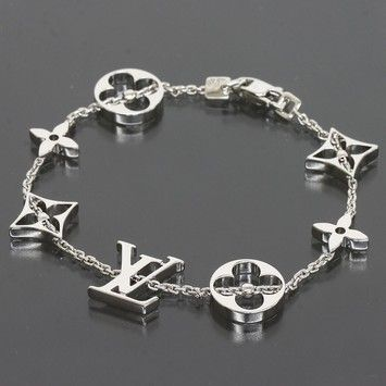 Louis Vuitton 18k White Gold Monogram Bracelet
