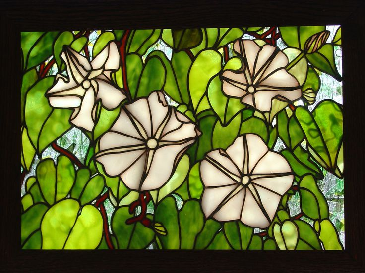 MOON FLOWERS - Delphi Stained Glass