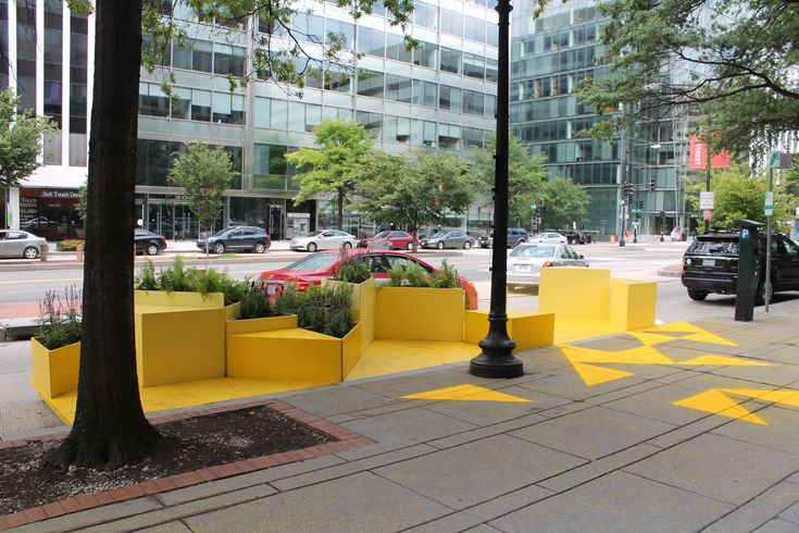 The firm's local office designed a temporary, 320-square-foot mini park on a busy downtown street.
