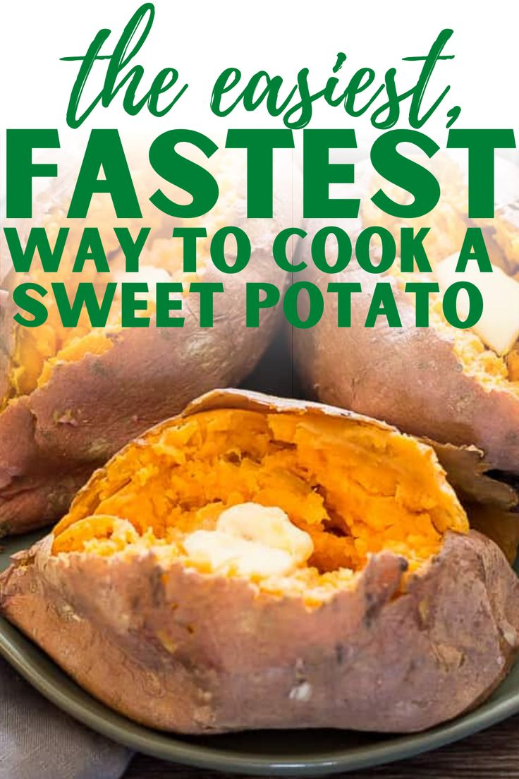 The easiest way to cook a sweet potato – full instructions and pictures for how to microwave sweet potato for the fluffi…