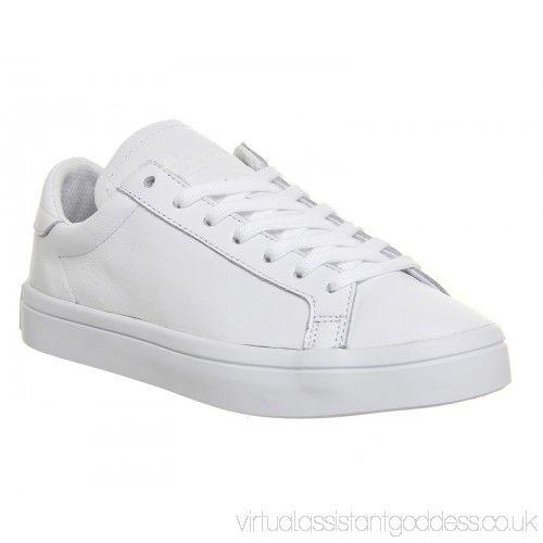 FIYXNLFH Adidas Court Vantage White Mono FIYXNLFH £50.26