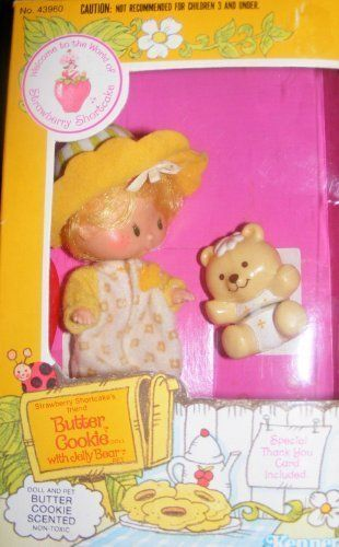 Vintage Strawberry Shortcake Doll Butter Cookie with Pet (1982). #Vintage #Strawberry #Shortcake #Doll #Butter #Cookie #with