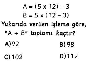 5.Sınıf İşlem Önceliği Testleri Çöz