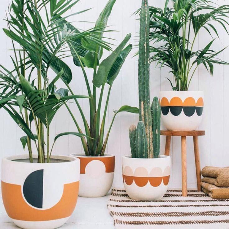 Resultado de imagem para vasos decorados con pintura                                                                                                                                                                                 Mais