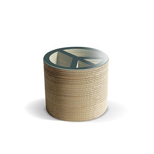 PACE N - Carton Factory Designer: Carton Factory Misure: 46 X 46 X 40h  Tavolo basso in cartone con piano superiore in vetro.   #cartonfactory #ecodesign #cardboard #design #tavolo #cartone