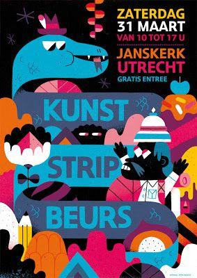 KUNST STRIP BEURS: Affiche kunststripbeurs 2012 is klaar