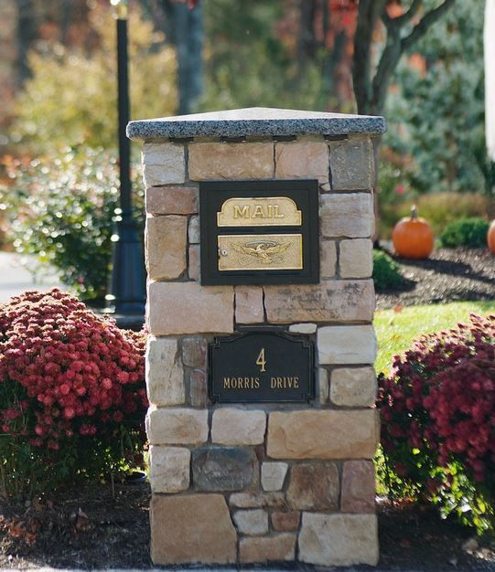17 Best Images About Granite Lamp Post And Mailbox Post On