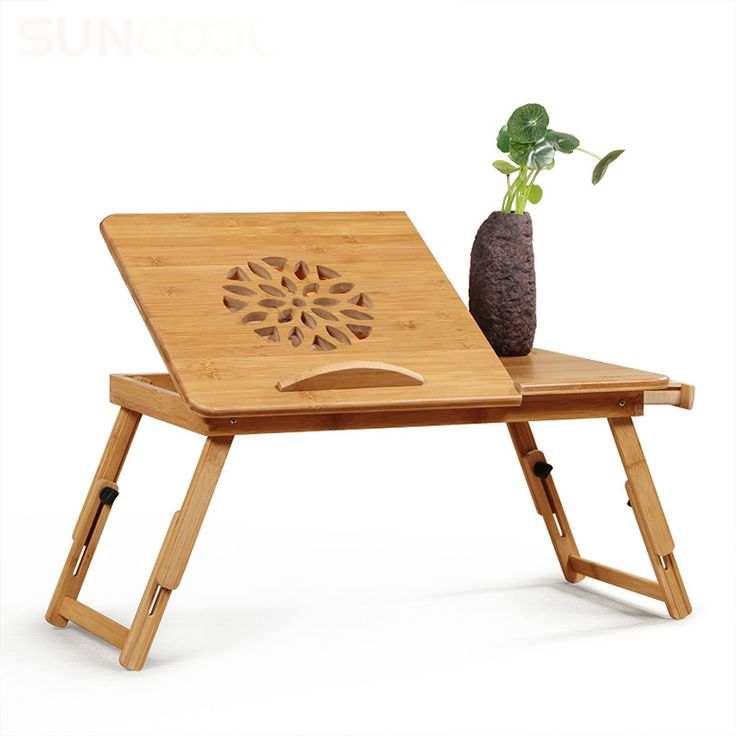 Simple Lazy Table Adjustable Bed Notebook Computer Desk Creative Folding  Bamboo Small Desk