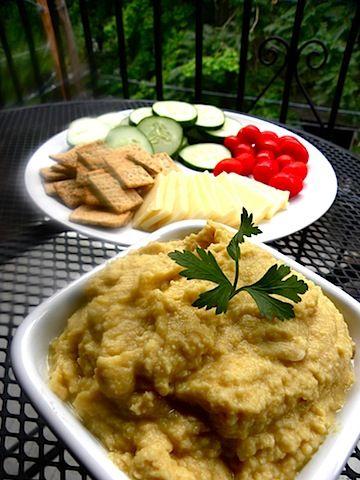 Lemon Garlic Hummus- only used one and a half lemons & homemade tahini ...