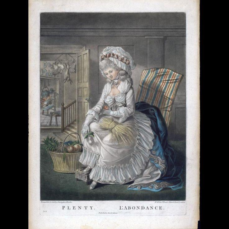 Plenty./ L'Abondance, c. 1780, Colonial Williamsburg, 1980-232