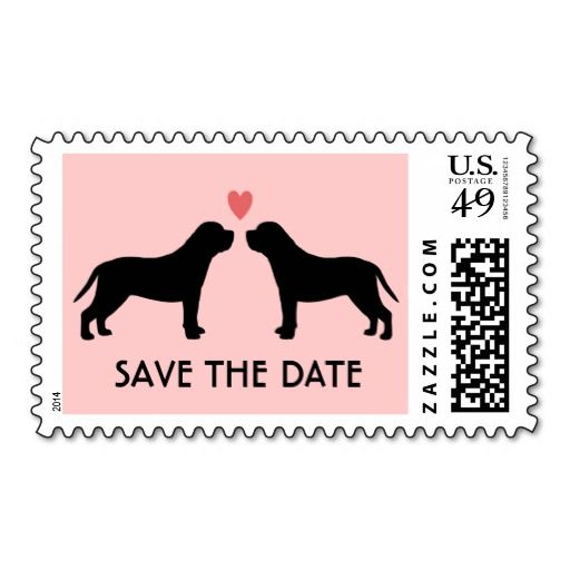 English Mastiffs Wedding Save the Date Postage Stamp This DealsReview from Associated Store with this Deal...