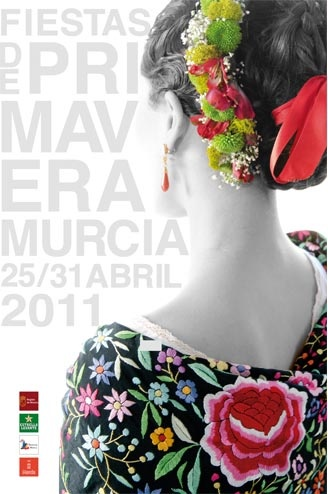 Cartel Fiestas de Primavera 2011 de Murcia - María Campillo
