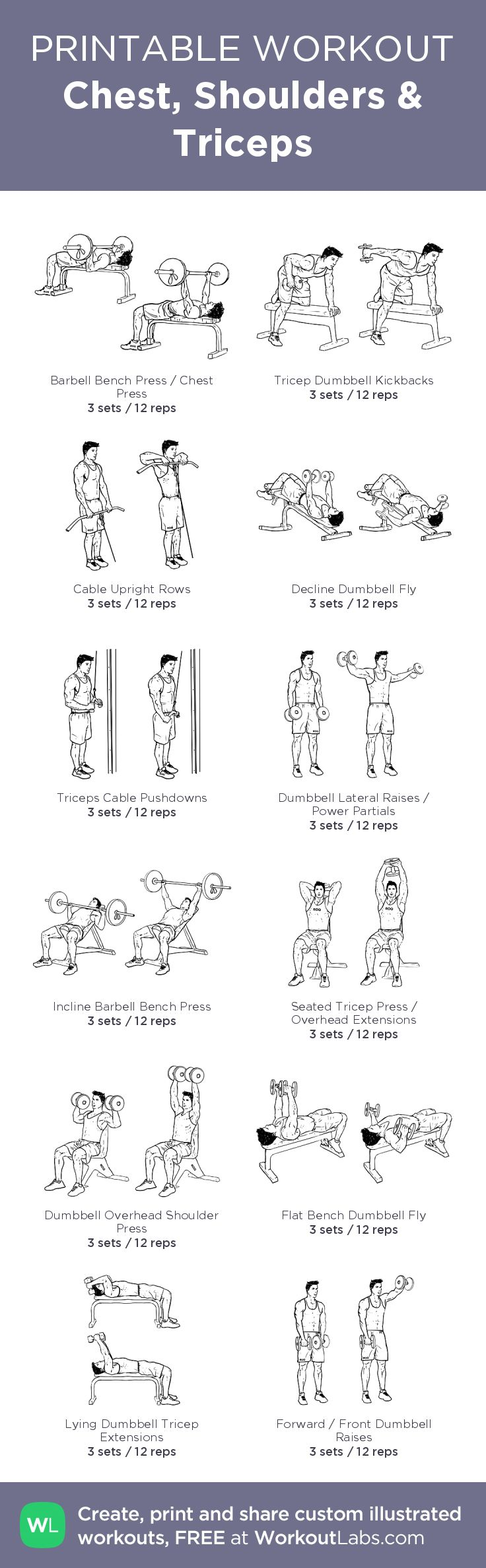Best 25 Chest And Shoulder Workout Ideas On Gym