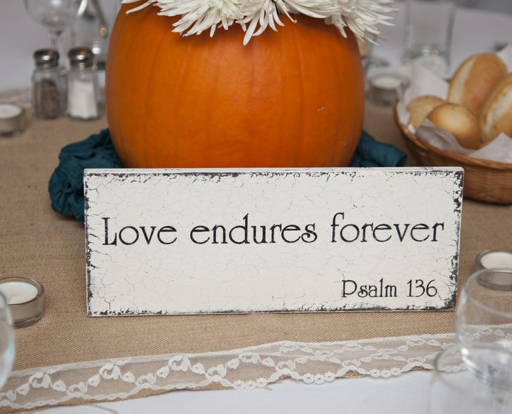 instead of table numbers, bible verses about love (borrowed from my cousin :) )