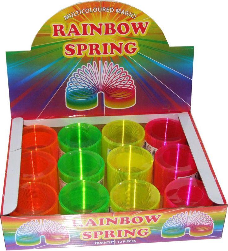 12 Neon Slinky Springs, Full Size Slinky, Children's Party Bag Filler Toys #Henbrandt #BirthdayChild