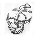 vintage anchor tattoo, with a twist