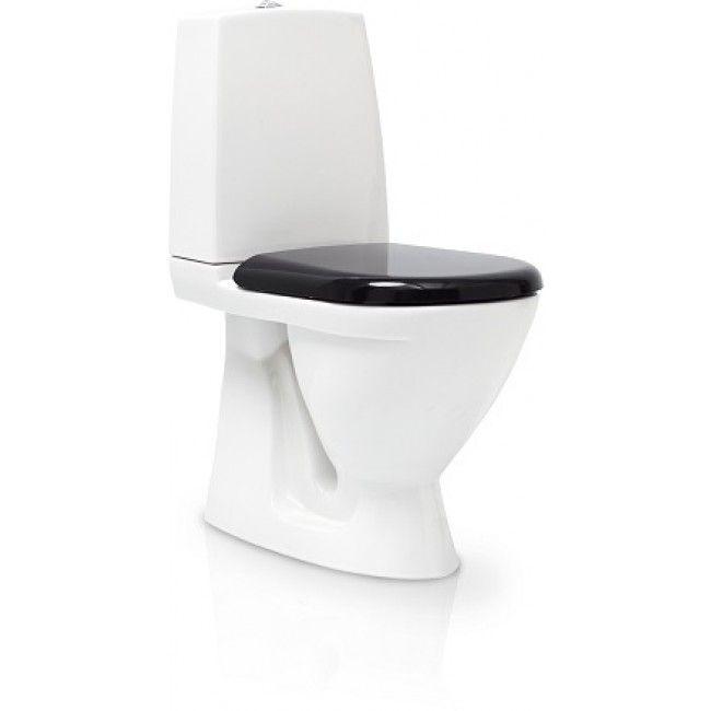 Svedbergs Toalettstol 9085 med Mjukstängande Svart Sits