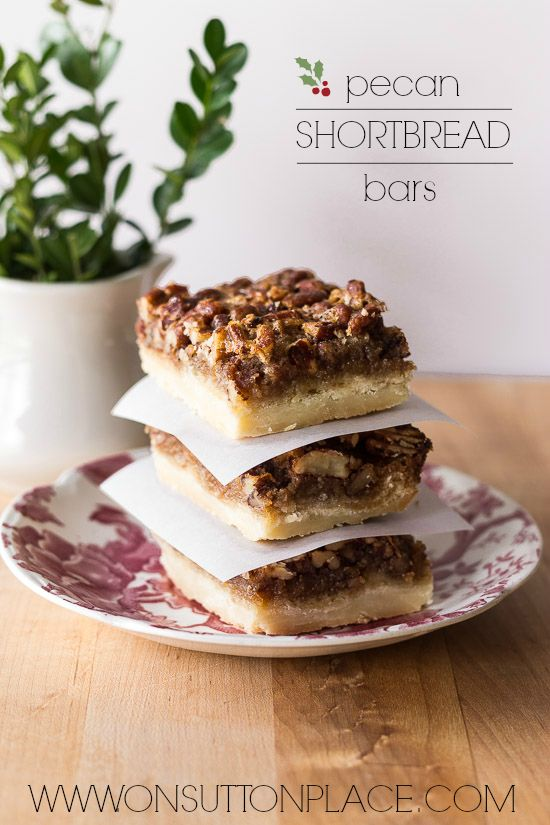 Quick and beautiful, these Pecan Shortbread Bars are the perfect ...