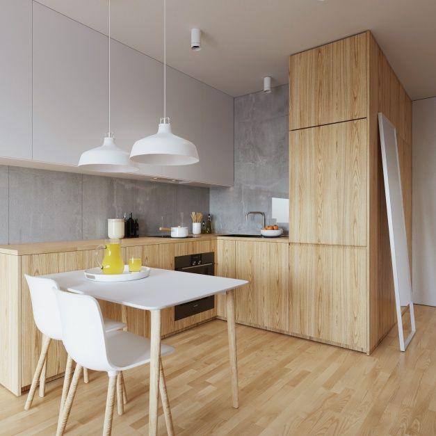 Małe mieszkanie: wnętrze w szarościach i beżach  - zdjęcie numer 6