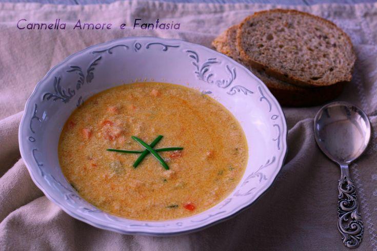 zuppa di salmone