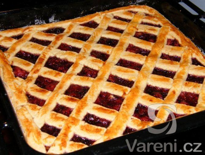 Mřížkový linecký koláč, ozkoušeno - výborný
