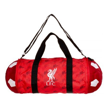 Liverpool Soccer Ball Duffle Bag, Red