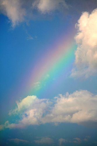 Amazing rainbow in the clouds.