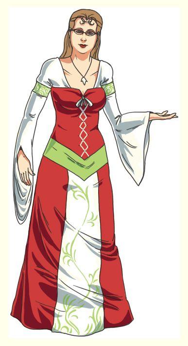 Ma robe de mariée médiévale colorée, faite sur-mesure