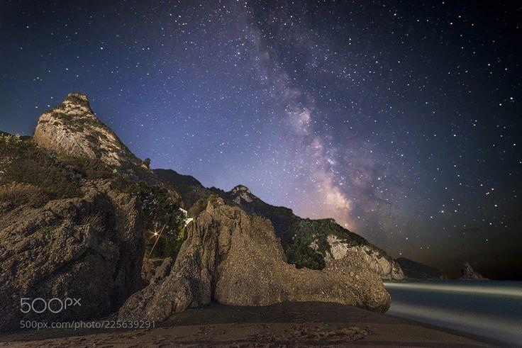 Milky Way in Agios Gordios - Corfù - Kérkyra by espositopasquale